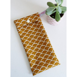 Washable and reusable freezer bag CURRY SCALES (HALF-LONG)