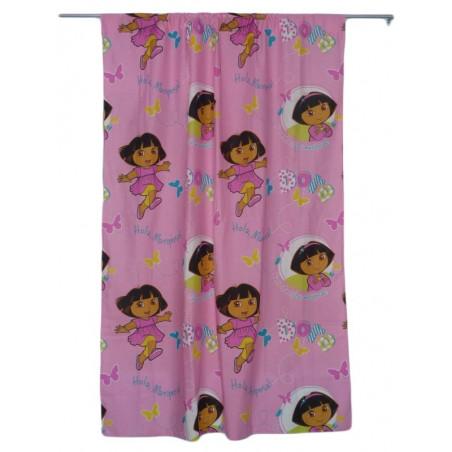 DORA cortina de color rosa
