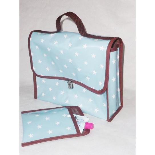 satchel nativo e Snack Bag per i bambini CIELO STELLATO