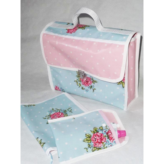 Cartable maternelle et ses accessoires ROSE DE PRINTEMPS