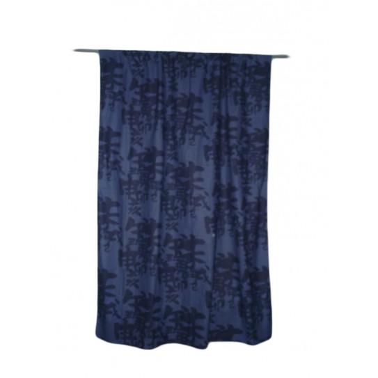 Rideau bleu JAPONAIS