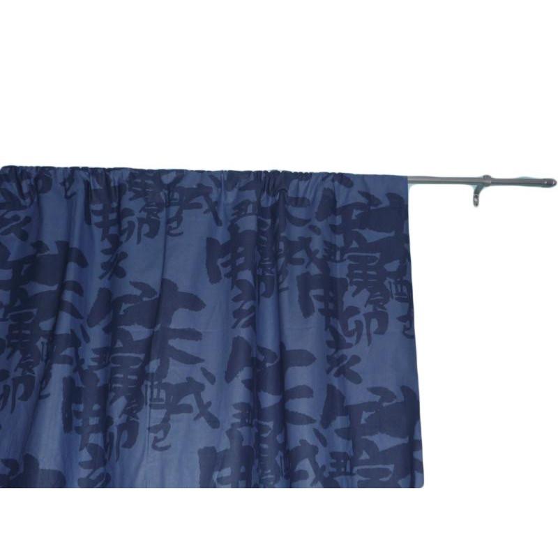 rideau bleu japonais 135 x 190 cm. Black Bedroom Furniture Sets. Home Design Ideas
