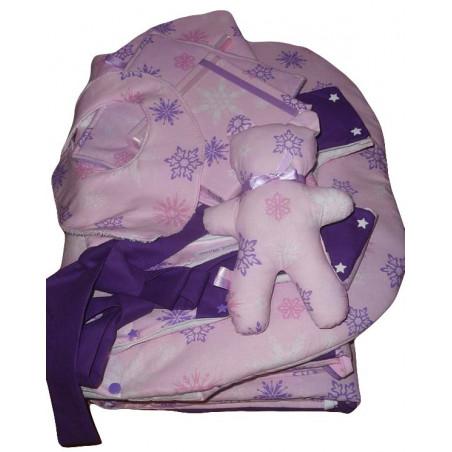 Conjunto de sala de bebé completo (8 piezas) nieve de las estrellas