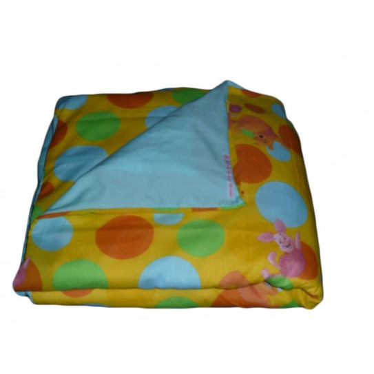 Two-tone baby duvet cover WINNIE L'OURSON