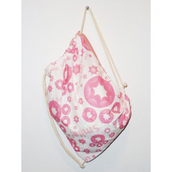 STAR salmon and white backpack (LITTLEST PET SHOP)