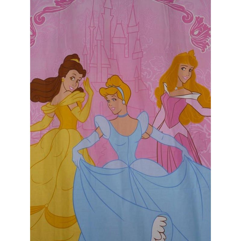 rideau rose enfant princesses 135 x 200 cm. Black Bedroom Furniture Sets. Home Design Ideas