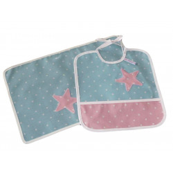 Bib kit and children's table set - TENDERS SMALL PEAS -