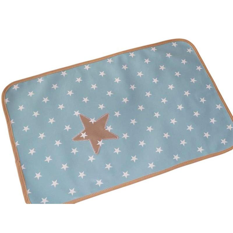 Kit bavoir et set de table enfant blue white for Set de table enfant