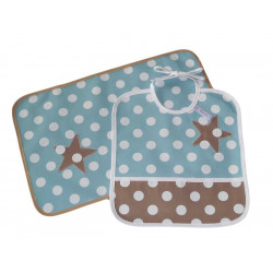 Kit bavoir et set de table enfant - SWEET STAR -