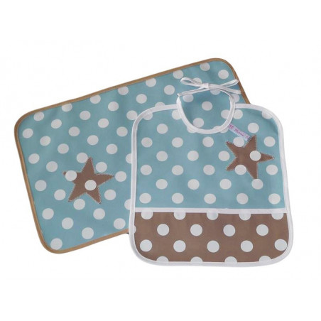 Bib kit and children's table set - SWEET STAR -