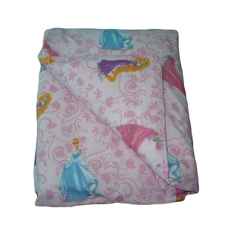 Housse de couette b b rose princesses raiponce 100 for Housse couette bebe