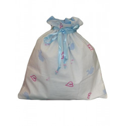 Sac à linge doublé LITTLE BLUE BIRD