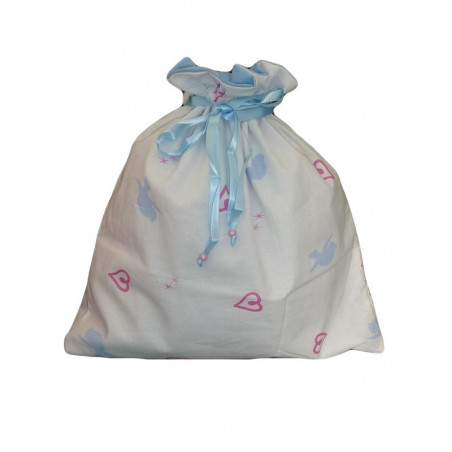 LITTLE BLUE BIRD lined laundry bag