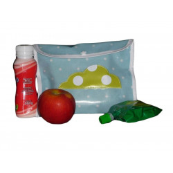 Snack pouch - GREEN CLOUD - (17 x 21 cm)