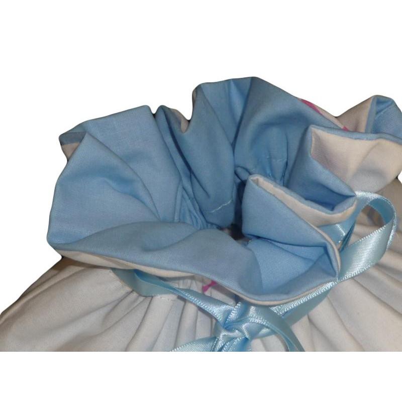 sac linge doubl little blue bird 37 x 39 cm. Black Bedroom Furniture Sets. Home Design Ideas