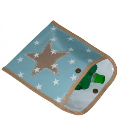 Pochette à goûter (petit format) - BLUE WHITE - (16 x 16 cm)