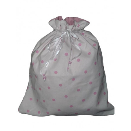 PINK POINT doubled laundry bag