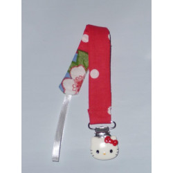 HELLO KITTY pacifier clip