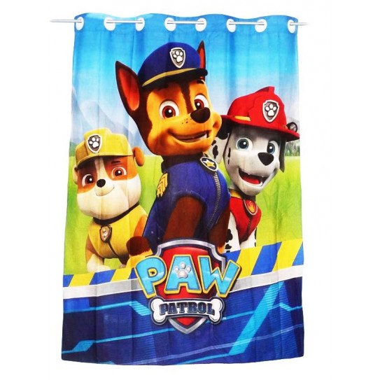 rideau enfant pat patrouille paw patrol 135 x 185 cm. Black Bedroom Furniture Sets. Home Design Ideas