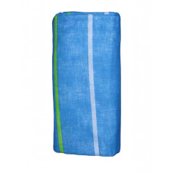 Blue striped fitted sheet
