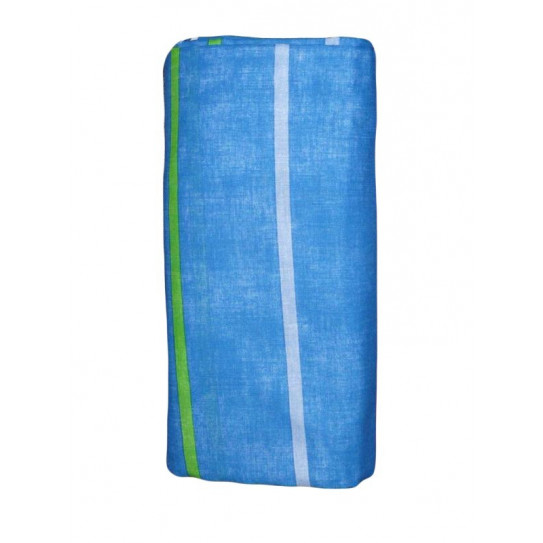 sábana ajustada de rayas azules