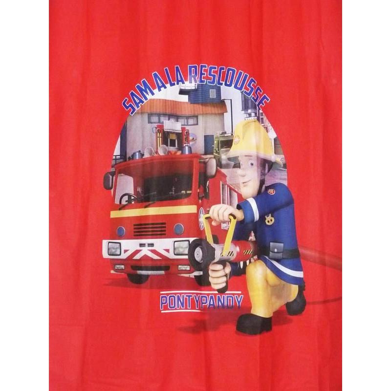 Rideau enfant sam le pompier 138 x 200 cm - Chambre garcon pompier ...