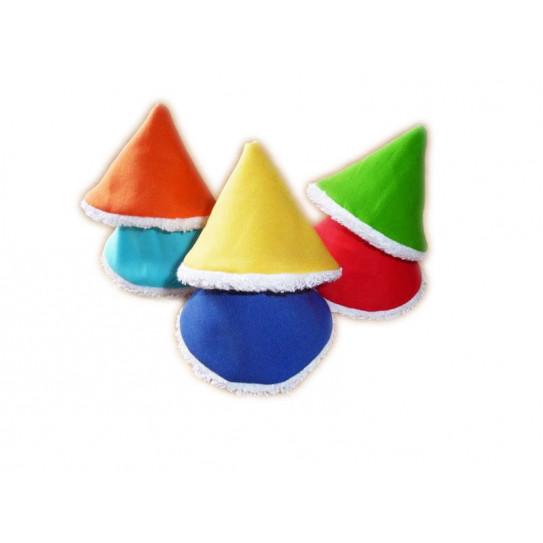 6 Pee Tip / STOP pee cones - RAINBOW -