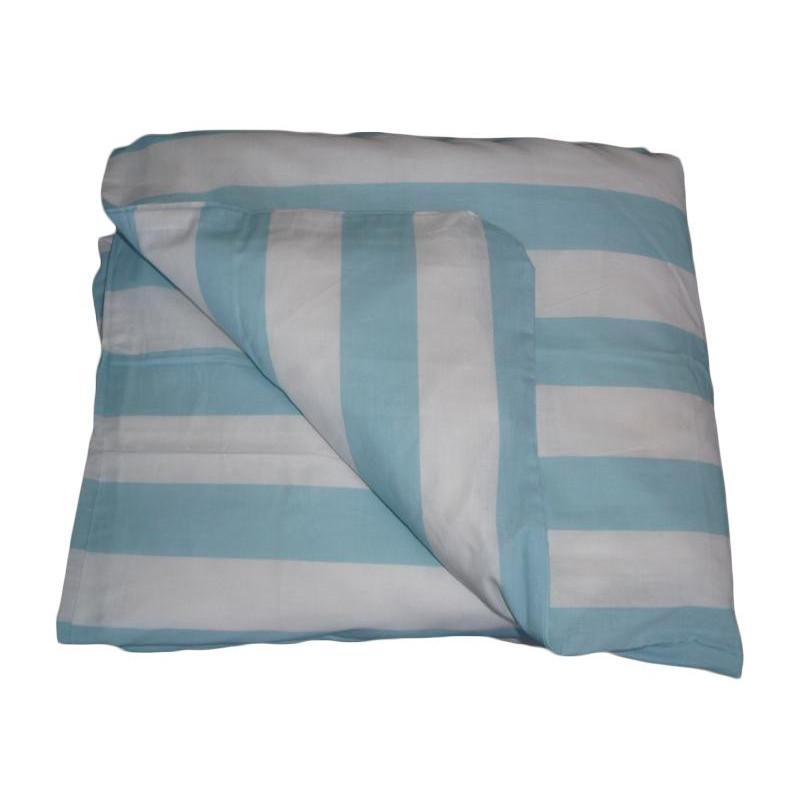 Housse de couette b b blue line 100 x 140 cm for Housse couette bebe