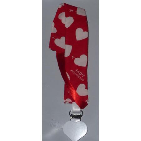 Pacifier clip LOVE