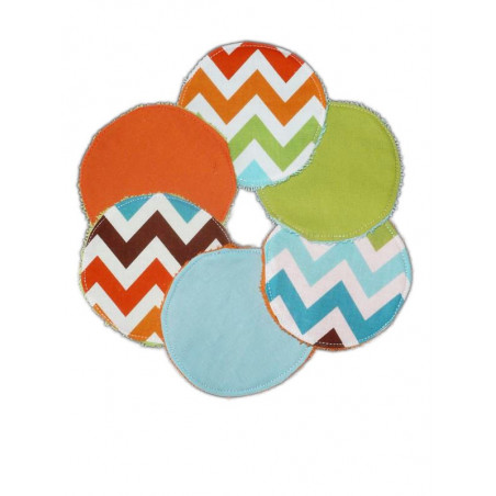 6 washable wipes - CHEVRONS -