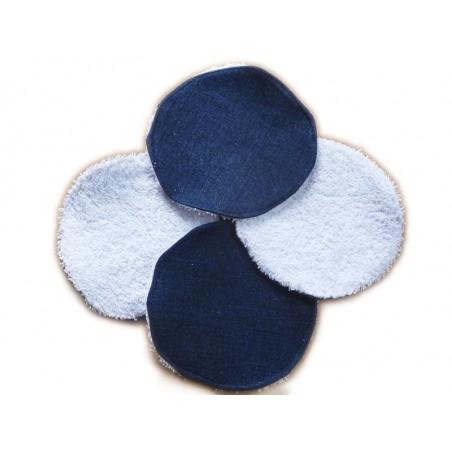 4 waschbare Tücher Blue Jeans