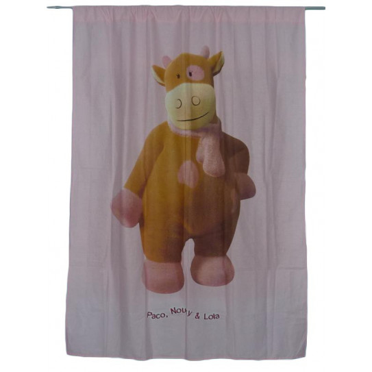 Pink curtain LOLA THE COW (NOUKIE'S)