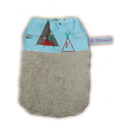 TIPI INDIEN children's washcloth (from 3 years)