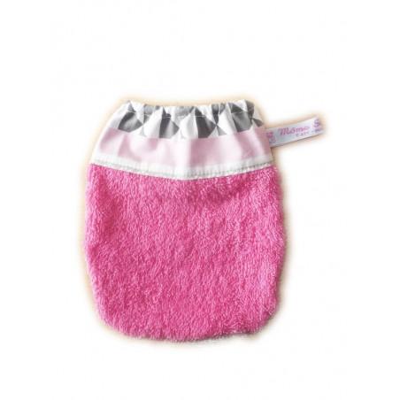 Gant de toilette enfant ROSE METRIQUE (dès 3 ans)