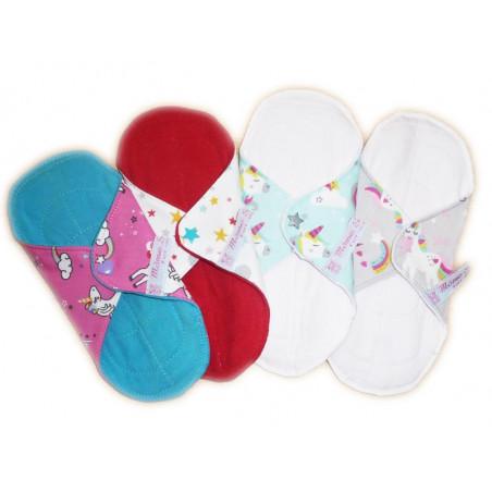 Set 4 servilletas lavables de UNICORNIO (XS)