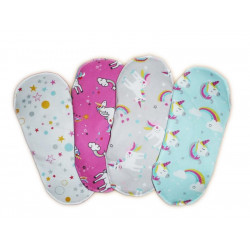 Set 4 UNICORN washable sanitary napkins (XS)