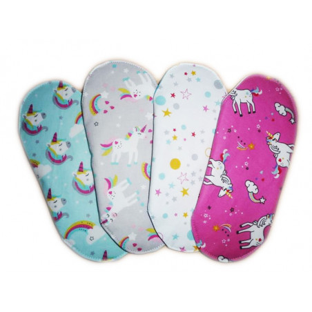Set 4 UNICORN washable sanitary napkins (S)