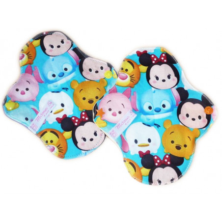 2 TSUM TSUM washable panty pads (17 cm)
