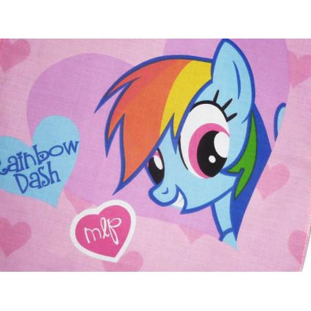 Serviette de cantine MON PETIT PONEY (Rainbow Dash)