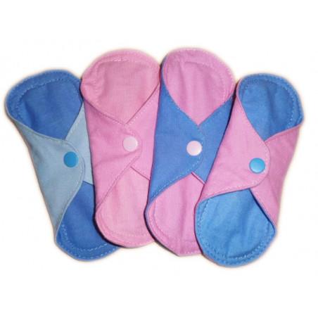 Protège-slip lavable réversible en flanelle de coton