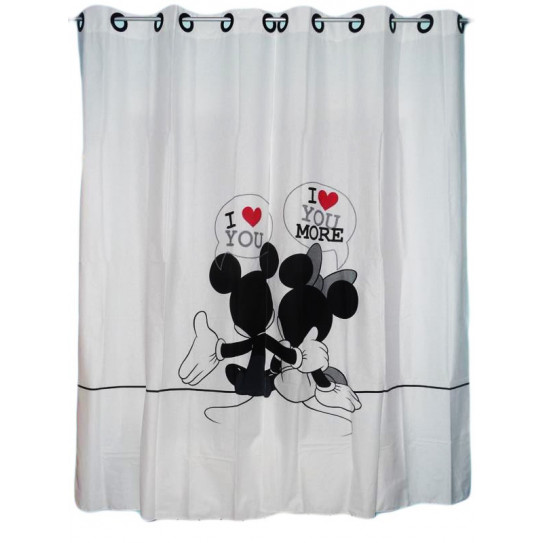 2 child curtains MICKEY MOUSE AND MINNIE MOUSE