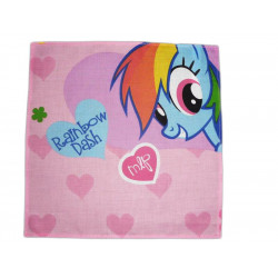 Washable cloth handkerchief MY LITTLE PONY (Rainbow Dash)