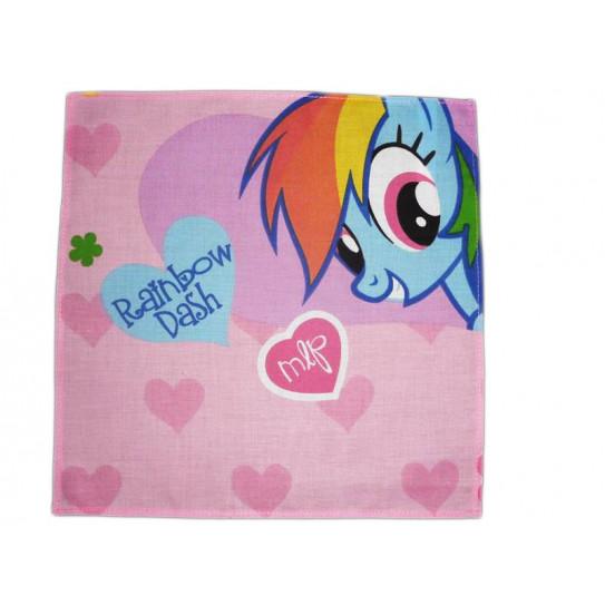 Washable cloth handkerchief MY LITTLE PONY (Rainbow Dash)