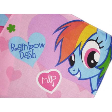 Mouchoir en tissu lavable MON PETIT PONEY (Rainbow Dash)