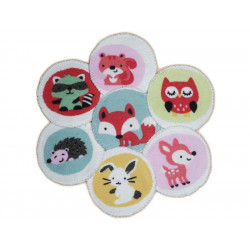 7 organic washable pads ANIMALS