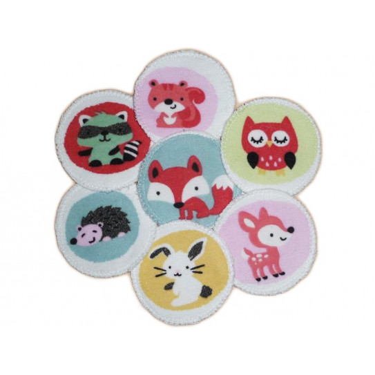 7 almohadillas orgánicas lavables ANIMALES