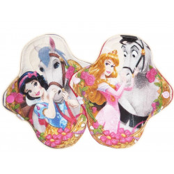2 PRINCESS washable panty pads (17 cm)
