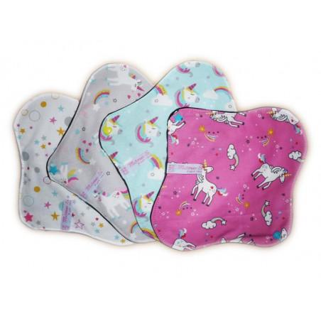 Set 4 servilletas lavables de UNICORNIO (M)