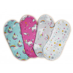 Set 4 UNICORN washable sanitary napkins (M)
