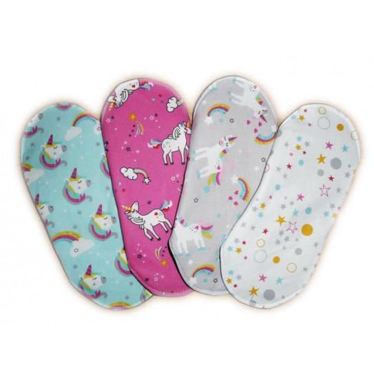 Set 4 UNICORN washable sanitary napkins (M)